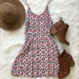 Francesca's | Diamond Print Mini Dress